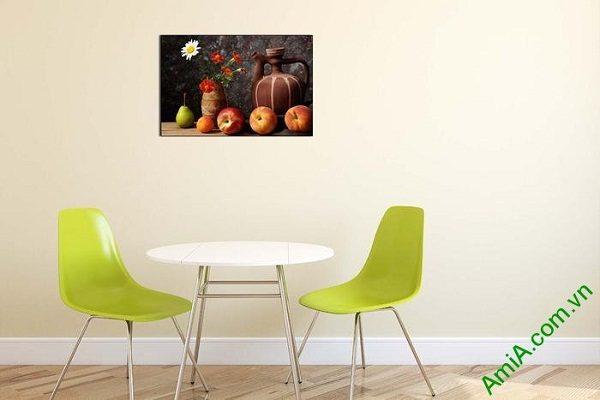 Tranh bàn hoa quả treo tường phòng ăn AmiA 628-01