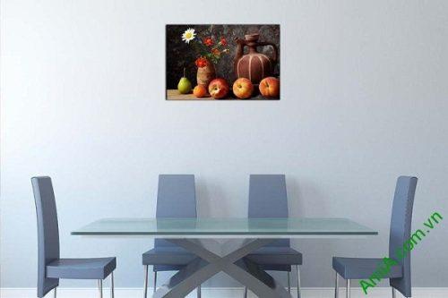 Tranh bàn hoa quả treo tường phòng ăn AmiA 628-02