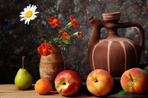 Tranh bàn hoa quả treo tường phòng ăn AmiA 628
