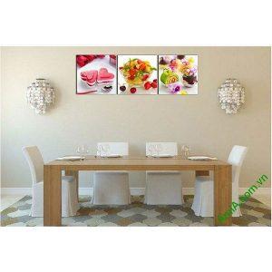 Tranh ghép bộ treo tường phòng ăn món ăn vặt AmiA 617-00