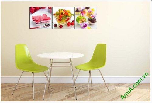 Tranh ghép bộ treo tường phòng ăn món ăn vặt AmiA 617-02