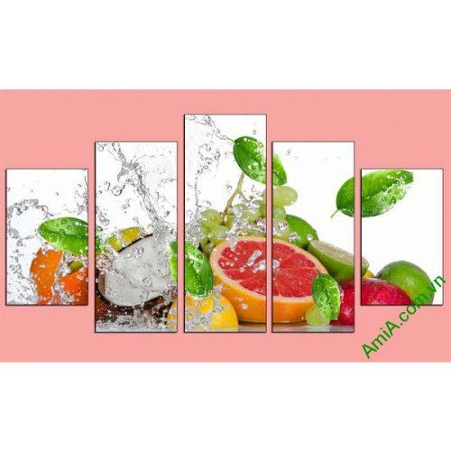 Tranh hoa quả treo tường phòng ăn mát lạnh ngày hè-00