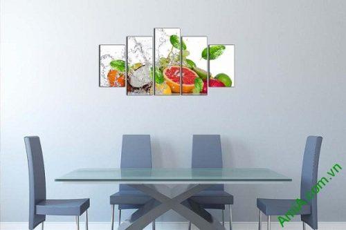 Tranh hoa quả treo tường phòng ăn mát lạnh ngày hè-01