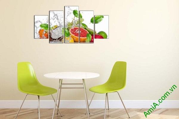 Tranh hoa quả treo tường phòng ăn mát lạnh ngày hè-02