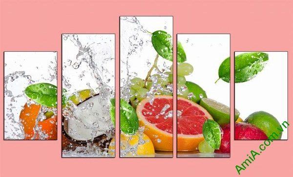Tranh hoa quả treo tường phòng ăn mát lạnh ngày hè