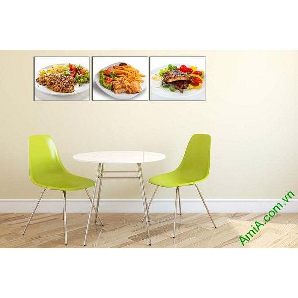 Tranh treo tường món ăn hấp dẫn trang trí phòng ăn, nhà hàng-00