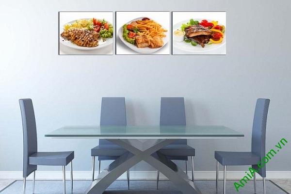 Tranh treo tường món ăn hấp dẫn trang trí phòng ăn, nhà hàng-01