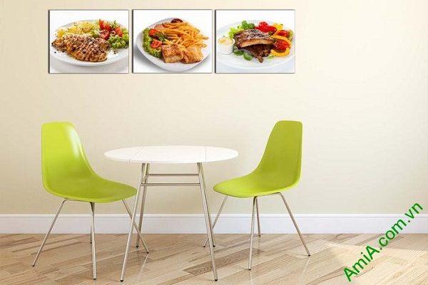 Tranh treo tường món ăn hấp dẫn trang trí phòng ăn, nhà hàng-02