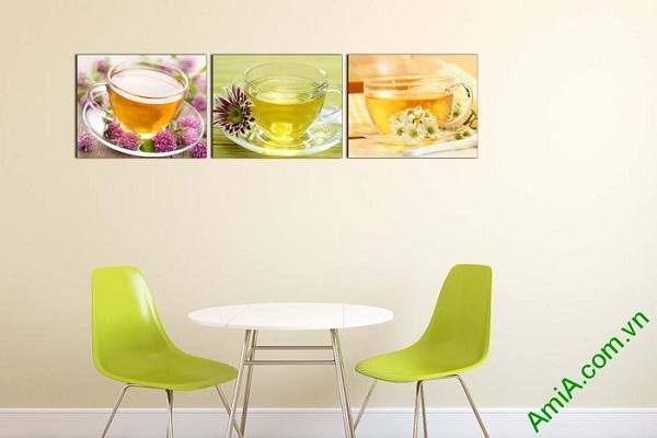 Tranh treo tường phòng ăn, phòng trà mát lạnh ngày hè-01