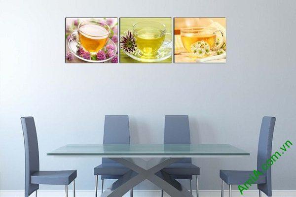 Tranh treo tường phòng ăn, phòng trà mát lạnh ngày hè-02