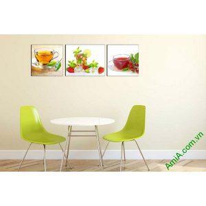 Tranh treo tường phòng ăn sang trọng ly nước trái cây-00