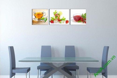 Tranh treo tường phòng ăn sang trọng ly nước trái cây-01