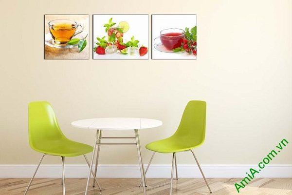 Tranh treo tường phòng ăn sang trọng ly nước trái cây-02
