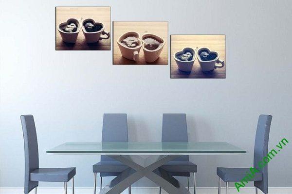 Tranh treo tường trang trí hiện đại ly cafe tình yêu-02