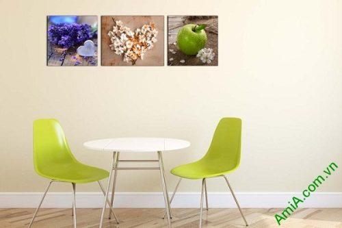 Tranh treo tường trang trí nội thất sang trọng hoa quả-01