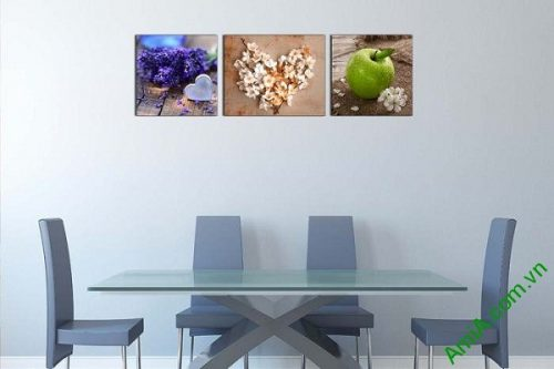 Tranh treo tường trang trí nội thất sang trọng hoa quả-02