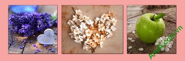 Tranh treo tường trang trí nội thất sang trọng hoa quả