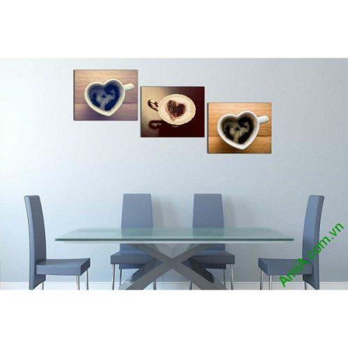 Tranh treo tường trang trí tách cafe capuchino AmiA 621-00