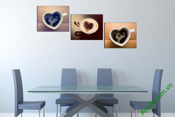 Tranh treo tường trang trí tách cafe capuchino AmiA 621-01