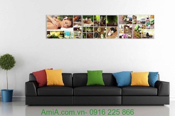 Hình ảnh Bộ tranh ghép treo tường spa thảo dược treo phòng khách