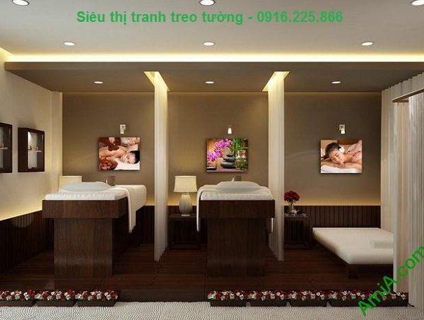 Hình ảnh Bộ tranh treo tường trang trí spa hiện đại