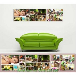 Hình ảnh mẫu Bộ tranh ghép treo tường spa thảo dược