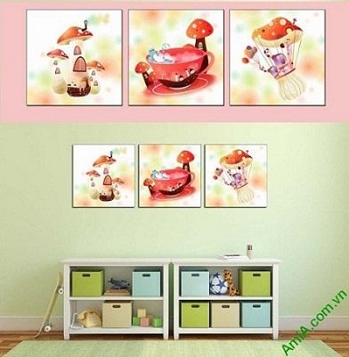 Hình ảnh mẫu tranh ghép bộ treo tường phòng trẻ em