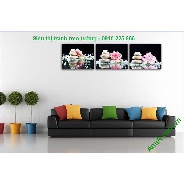 Hình ảnh mẫu Tranh hoa đá treo tường trang trí spa