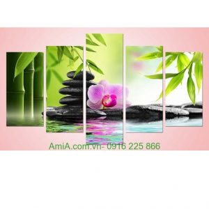 Hình ảnh mẫu thiết kế Tranh hoa phong lan treo tường phòng khách, phòng ngủ