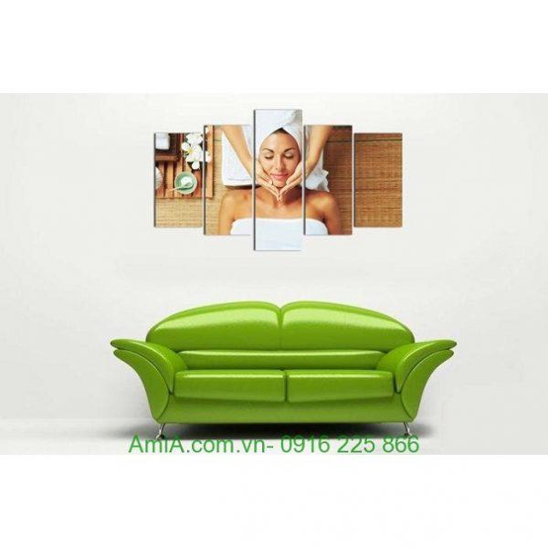Hình ảnh mẫu Tranh treo tường spa khổ lớn hình cô gái