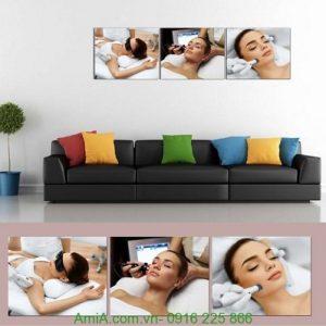 Hình ảnh mẫu tranh treo tường spa liệu pháp chăm sóc da
