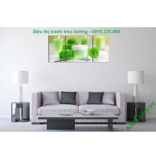 Hình ảnh mẫu Tranh treo tường spa nến hoa sang trọng