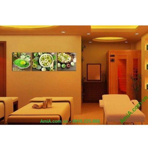 Hình ảnh mẫu Tranh treo tường trang trí spa nến hoa