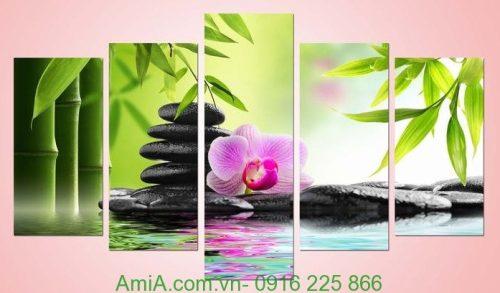 Hình ảnh Tranh hoa phong lan treo tường phòng khách, phòng ngủ