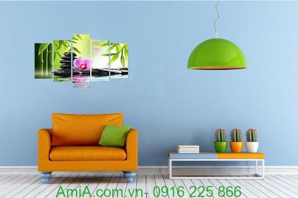 Hình ảnh Tranh hoa phong lan treo tường phòng khách