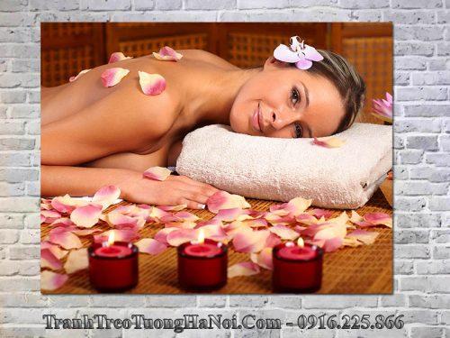 Tranh cô gái treo spa cực đẹp