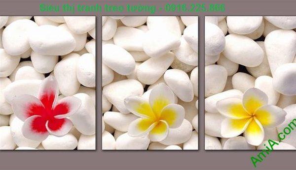 Hình ảnh Tranh treo tường hoa sứ trang trí spa đẹp