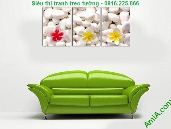 Hình ảnh Tranh treo tường hoa sứ trang trí spa đẹp treo phòng khách