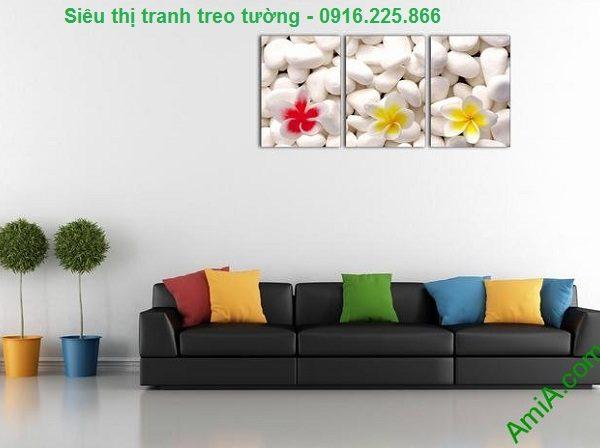 Hình ảnh Tranh treo tường hoa sứ trang trí spa đẹp treo phòng khách hiện đại