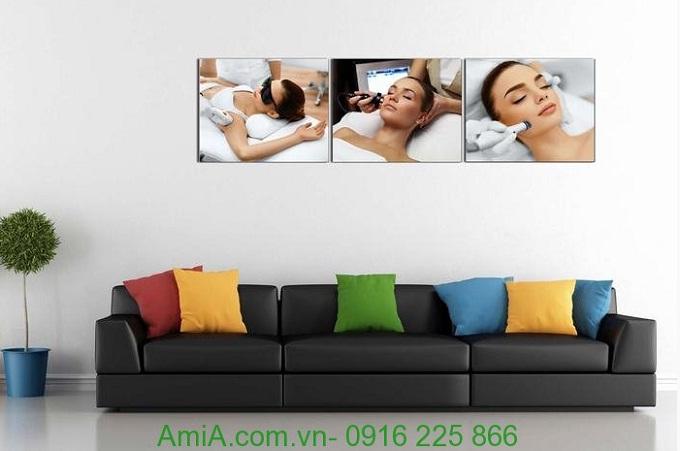 Hình ảnh Tranh treo tường spa liệu pháp chăm sóc da amia 948