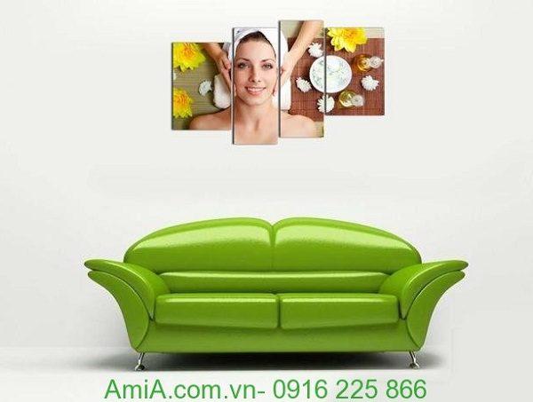 Hình ảnh Tranh treo tường spa đẹp hình cô gái đặt trong phòng khách
