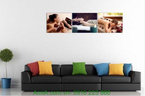 Hình ảnh Tranh treo tường spa hiện đại treo phòng khách