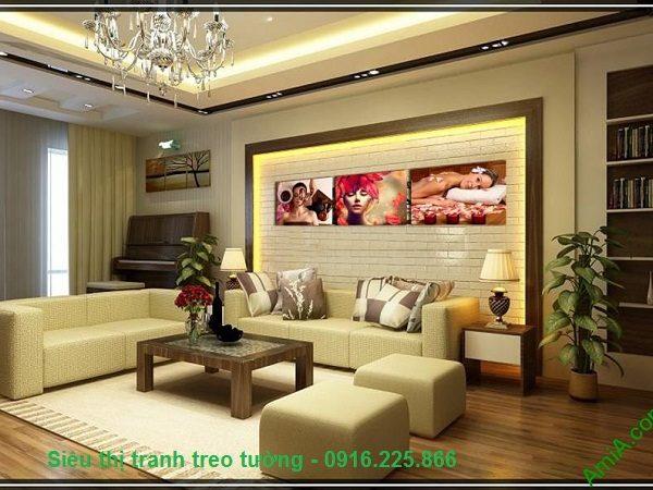 Hình ảnh Tranh treo tường spa hiện đại chăm sóc da treo phòng khách