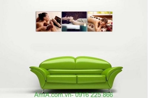 Hình ảnh Tranh treo tường spa hiện đại chăm sóc dưỡng da