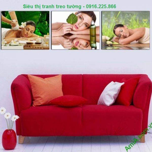 Hình ảnh Tranh treo tường spa hình cô gái đẹp treo phòng khách