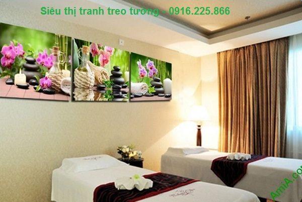 Hình ảnh Tranh treo tường spa hoa đá thiên nhiên treo phòng spa hiện đại