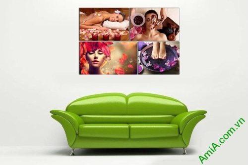 Hình ảnh Tranh treo tường spa thư giãn nghỉ ngơi làm đẹp phòng khách