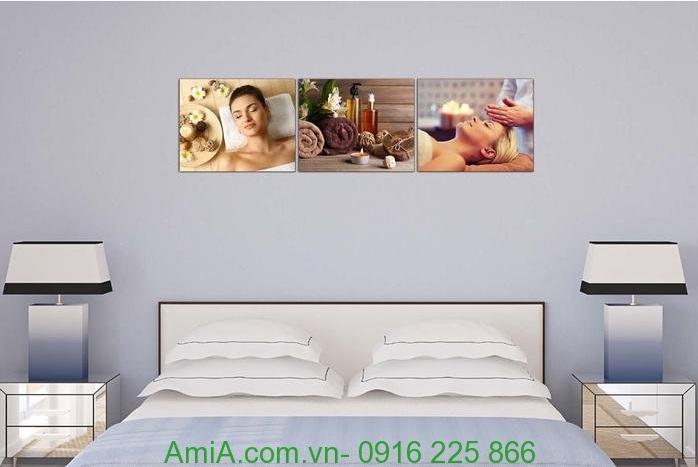Hình ảnh Tranh treo tường trang trí spa dưỡng da hiện đại