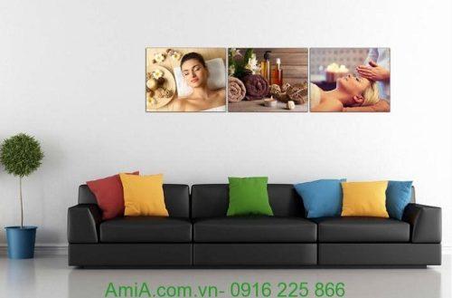 Hình ảnh Tranh treo tường trang trí spa hiện đại dưỡng da