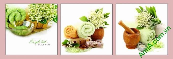 Hình ảnh Tranh treo tường trang trí spa hương liệu